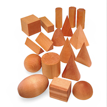 Geometric Solid Wooden Shapes 12pk  medium