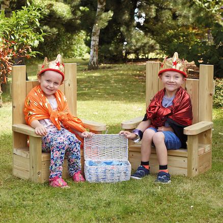 Outdoor Wooden Role Play Castle and Thrones  large