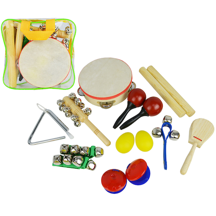 Handheld Childrens Percussion Set 10pk  large