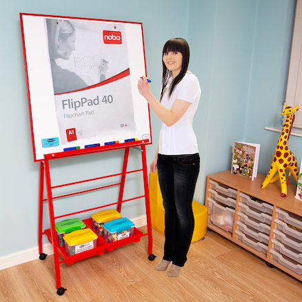 Big A Frame Easel Red W90 x H90cm  large