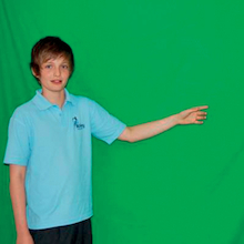 Green Screen with Poles  medium