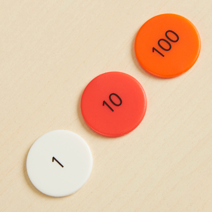 Singapore Colours Place Value Counters  large