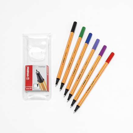 Assorted STABILO\u00ae Fineliner Point 88 Pens  large