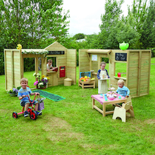 Outdoor Wooden Role Play Market Place  medium