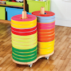 Donut Floor Cushions and Trolley 24pk  small