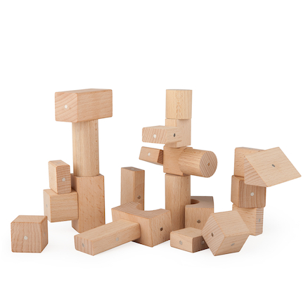 Magnetic Wooden Blocks 30pcs  large
