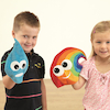 Soft Fabric Weather Hand Puppets 7pk  small