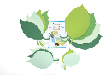 Jumbo Spring and Summer Assorted Paper Leaves 30pk  large