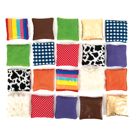Find the Match Fabric Sensory Squares  large