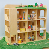 Small World Wooden Apartment Building  small