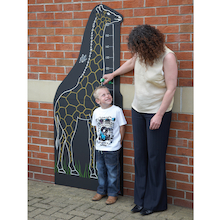Giraffe Chalkboard Height Chart W80 x H180cm  medium