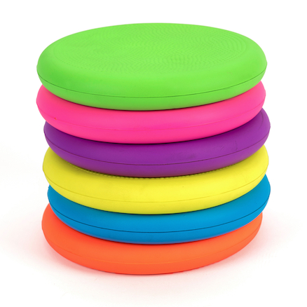 Rainbow Foam Frisbees 6pk  large