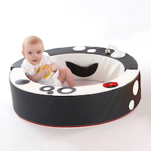 Black and White Padded Wipe Clean Baby Playring  medium