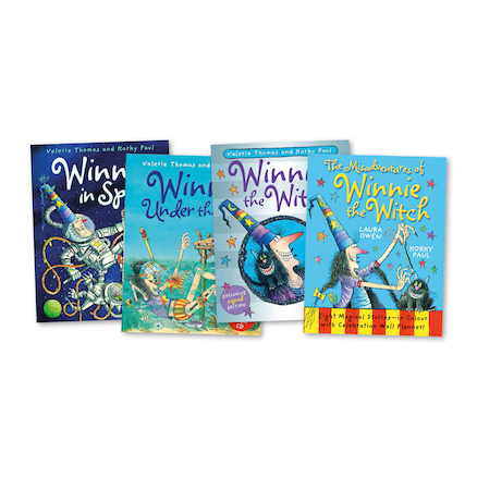Winnie the Witch Book Pack 4pcs  large