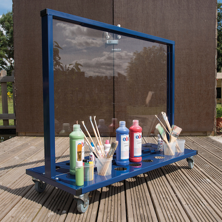 Manoeuvrable Clear Acrylic Painting Easel  large