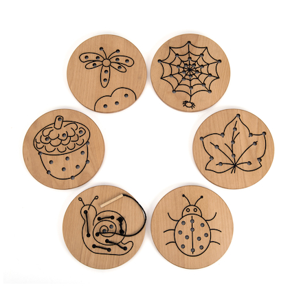 Nature Threading Boards 6pk  large