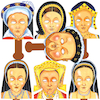 Henry VIII and His Wives Role Play Face Masks 7pk  small