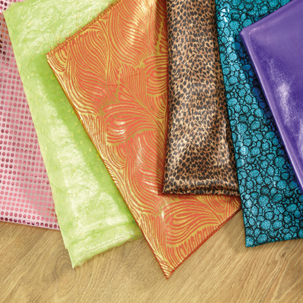 Assorted Metallic Display Fabric 1.5m 6pk  large