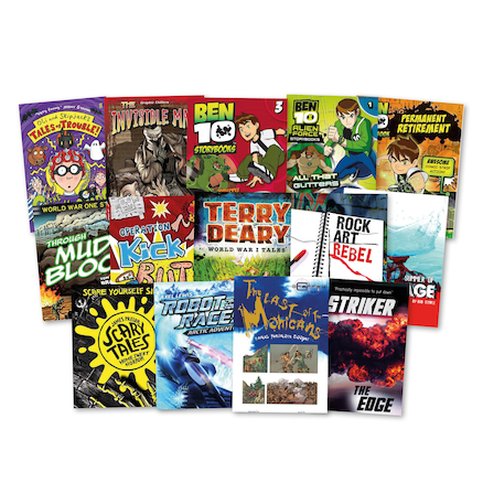 KS3 Lower Ability Boys Books 14pk  large