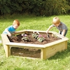 Wooden Hexagonal Planter  small
