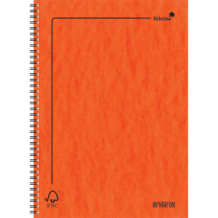 A5 FSC Pressboard Wirebound Notebook 10pk  large