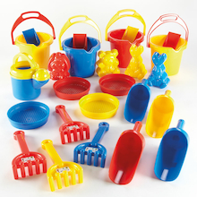Budget Sand and Water Play Set 25pcs  medium