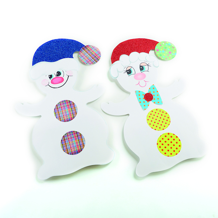 Giant White Card Display Snowmen  large