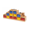 Tiered Tray Storage Left and Right Coloured Trays   small