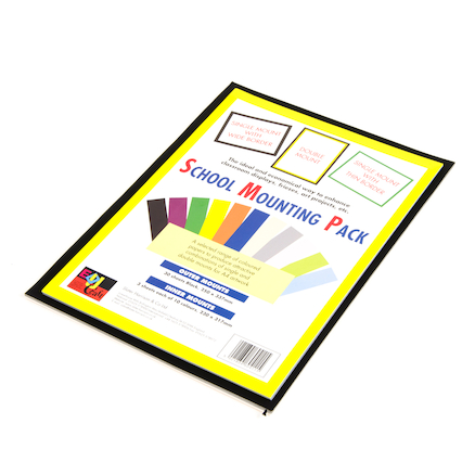 Assorted School Mounting Display Paper 60pk  large