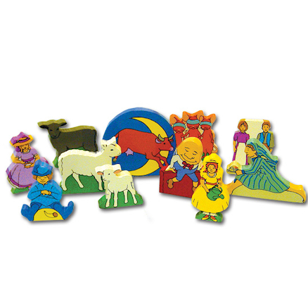 Wooden Nursery Rhyme Character Set 11pcs  large