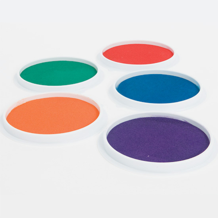 Assorted Giant Washable Coloured Ink Pads 5pk  large