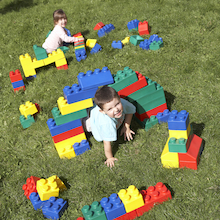Jumbo Flexible Construction Building Blocks 84pk  medium