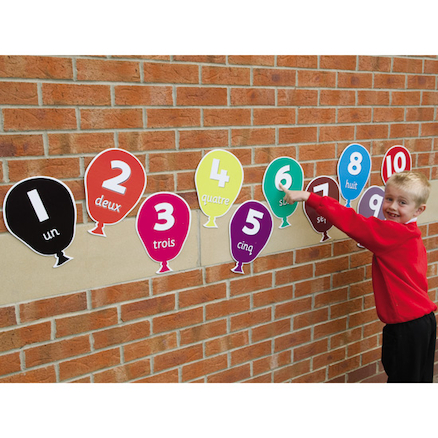 Number Vocabulary French Playground Signs  large
