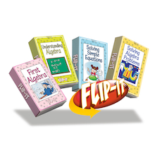 Flip-It Simple Algebra Activity Cards  medium
