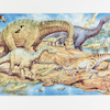 Farmyard and Dinosaur Floor Jigsaw Puzzle  small