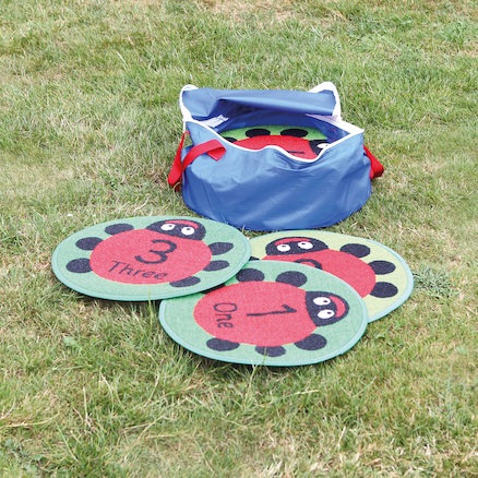 Back to Nature Outdoor Ladybird Counting Mats 24pk  large