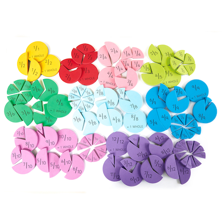Foam Fraction Action Resource 123pcs  large