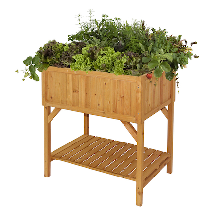 Raised Bed Planter Natural Wood H80 x W78 x D58cm  large