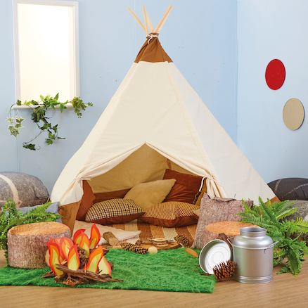 Indoor Fabric Teepee  large