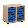 Mobile Tray Storage Unit With 12 Shallow Trays  small