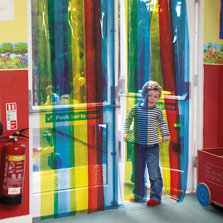 Rainbow Transparent Free Flow Curtains  large