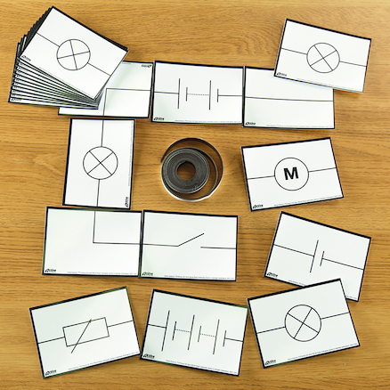 Magnetic Electrical Symbols Cards  large