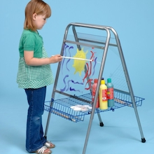 Height Adjustable Floor Standing Toddler Easel  medium