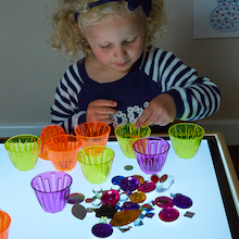 Lightbox Activity Acrylic Stacking Clever Cups  medium