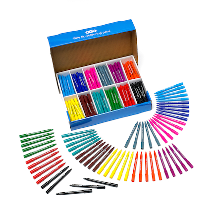 TTS Assorted Colouring Pens  large