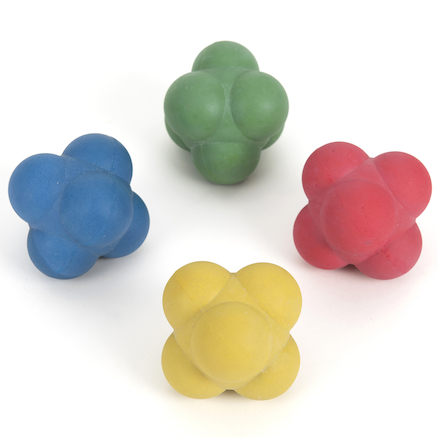 Rubber Reaction Balls 6cm 4pk  large