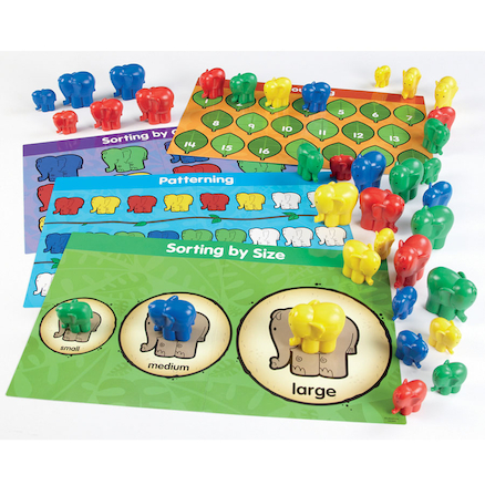 Elephant Counters and Activity Cards 40pcs  large