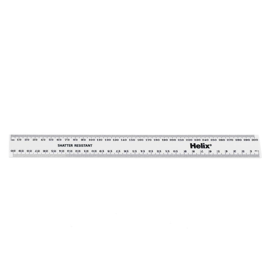 buy white durable plastic 30cm ruler 30pk | tts
