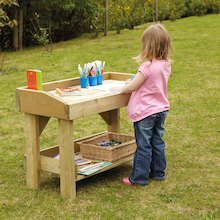 Outdoor Wooden Work Bench and Trestle  medium