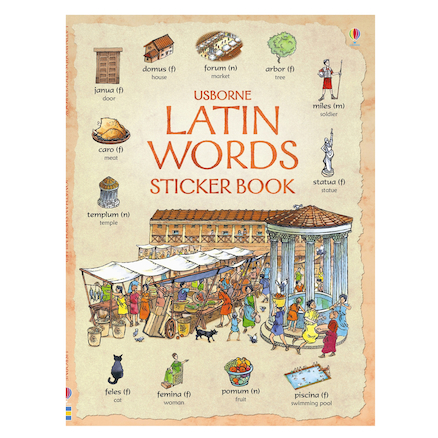 Latin Words Sticker Book  large